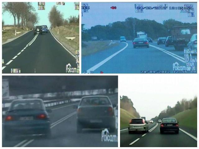To tylko kilka zdjęć piratów drogowych, którzy codziennie szarżują na lubuskich drogach.