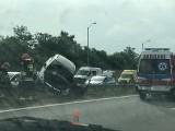 Wypadek na A4 na trasie Gliwice-Katowice. Korek w Rudzie Śląskiej ma już ponad 5 km długości