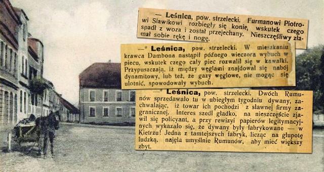 Tak wyglądają wycinki z gazet sprzed 100 lat. Tymi sprawami żyli wtedy mieszkańcy Leśnicy.