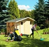 Domek na narzędzia ogrodowe