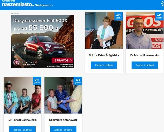 Za pomocą strony www.miedzyrzecz.naszemiasto.pl lub www.skwierzyna.naszemiasto.pl można zagłosować na swojego faworyta.