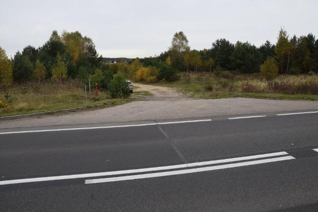 Stacja paliw ma powstać po prawej stronie drogi gminnej (ul. Jodłowa)