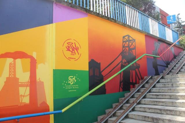 Nowy mural w Bytomiu. Nawiązuje do górniczego rodowodu miasta. Powstał on w podziemnym przejściu w Karbiu. Zobacz zdjęcia >>>