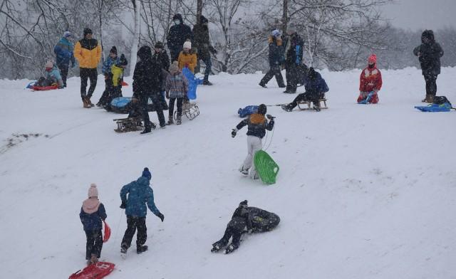 Zimowe szaleństwa przy ulicy Boryńskiej