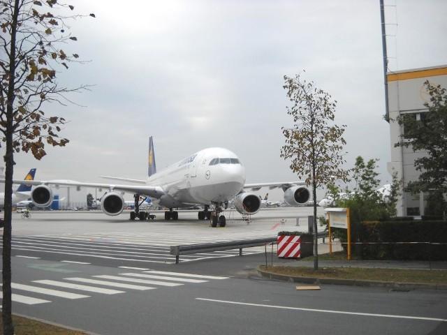 Większość samolotów w Europie jest uziemiona, między innymi na prezentowanym na zdjęciu lotnisku we Frankfurcie nad Menem.