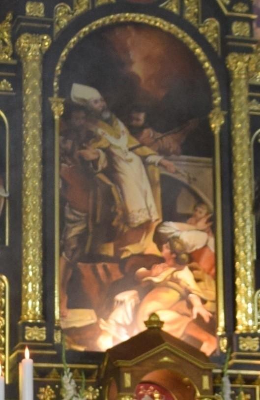 Dotychczasowy obraz św. Wojciecha w bazylice św. Wojciecha w Mikołowie