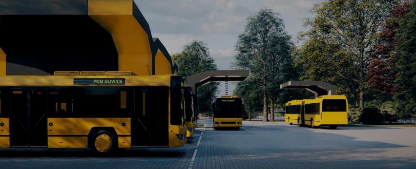 Tak ma wyglądać zajezdnia PKM w Gliwicach po przebudowie na potrzeby elektrycznych autobusów