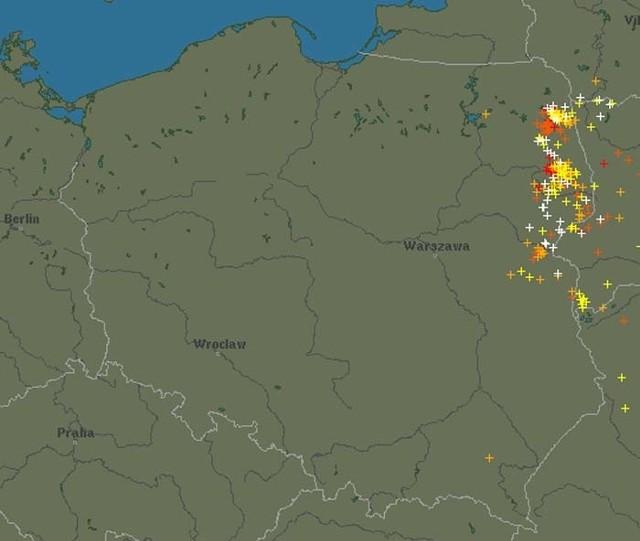 Radar Burzowy Online Gdzie Jest Burza Radar Burzowy Na Zywo Kurier Poranny