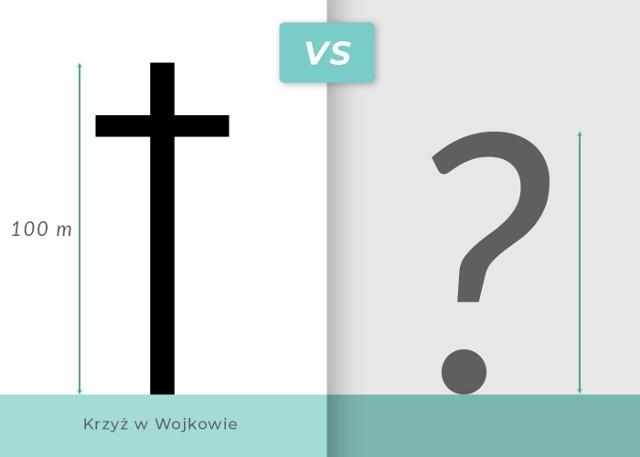 Zobaczcie, czy krzyż z Wojkowa przewyższy wieżę Eiffla.