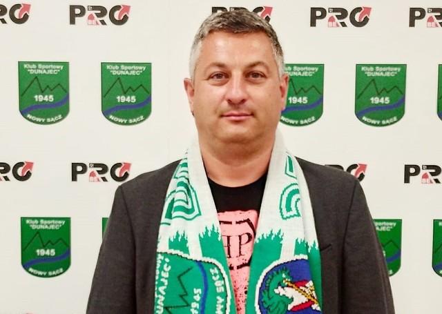 Tomasz Popiela został nowym prezesem Dunajca Nowy Sącz