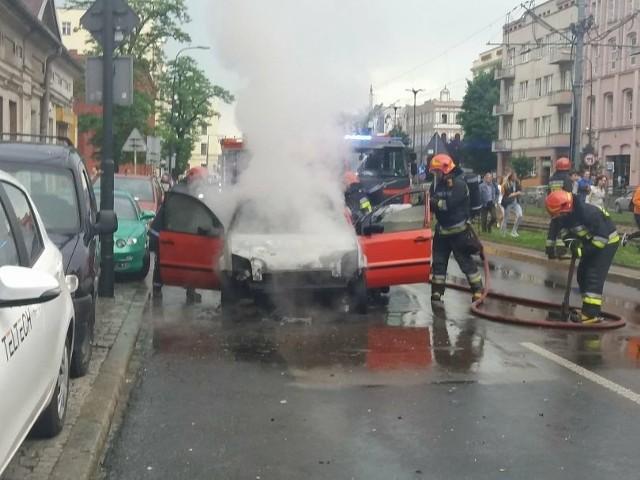 Pożar samochodu na al. Kościuszki