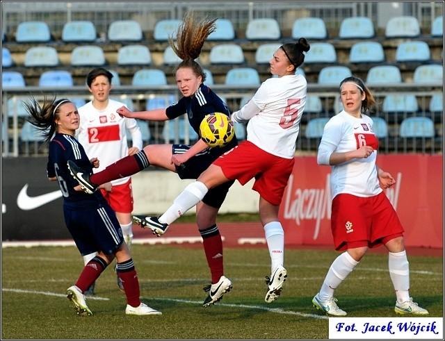 Mecz kobiet Polska - Szkocja (0:1) w Koszalinie