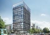 Wysoki biurowiec przy Sky Tower. Nowy projekt, nowe wizualizacje (ZOBACZ)
