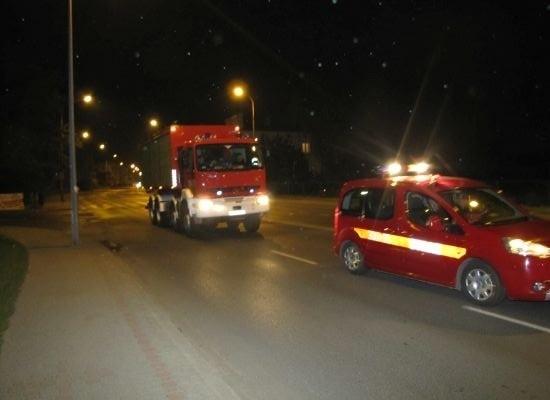 Strażacy z Wielkopolski w drodze do Krakowa
