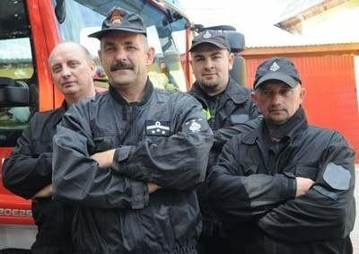 To tylko część załogi OSP w Kijach: Mirosław Gienko, Mariusz Księżak, Łukasz Tyc i Jarosław Księżak