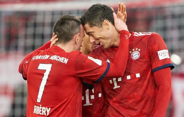 Franck Ribery i Robert Lewandowski świetnie rozumieli się na boisku