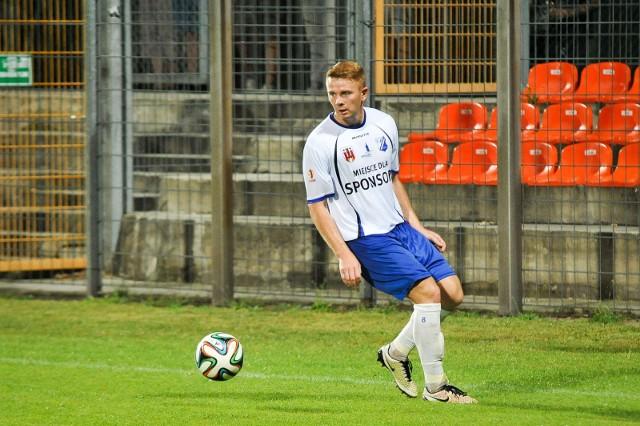 Sebastian Deja zdobył dwa gole dla kluczborskiej drużyny.