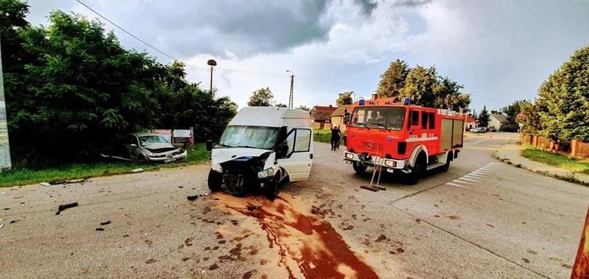 Jedna osoba została przewieziona do szpitala