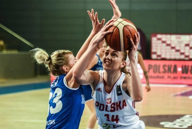 Karolina Poboży podczas jednego z meczów reprezentacji Polski