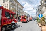 Łódź. Pożar w restauracji przy ulicy Piotrkowskiej ZDJĘCIA