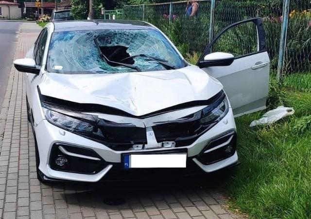 Samochód, którym jechał pijany sprawca śmiertelnego wypadku w Olkuszu na DK 94