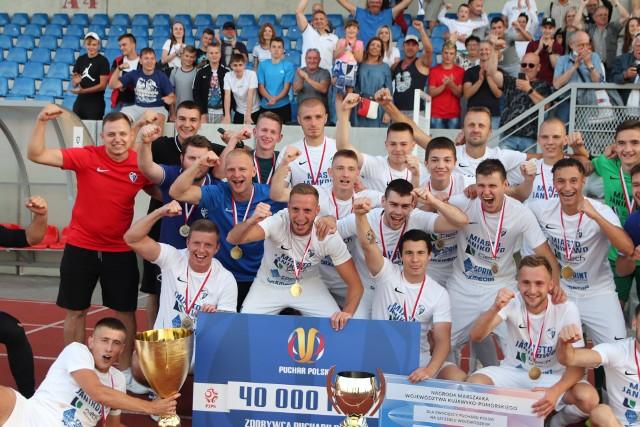 Unia Janikowo świętuje zdobycie Pucharu Polski na szczeblu Kujawsko-Pomorskiego ZPN