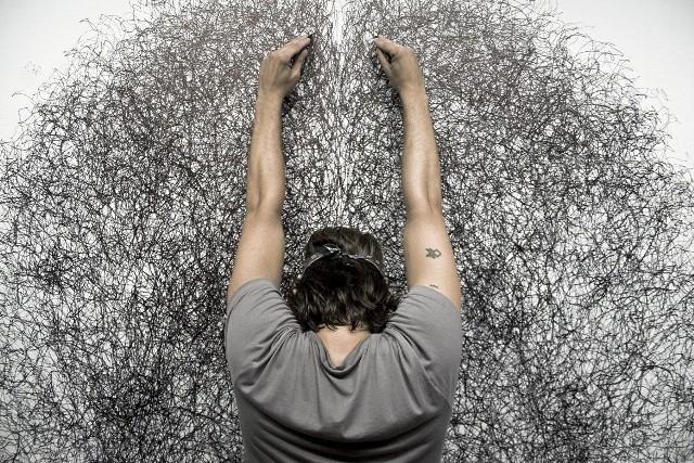 Praca Tony'ego Orrico od wtorku do czwartku powstaje przez 4 godziny dziennie w galerii Art Stations