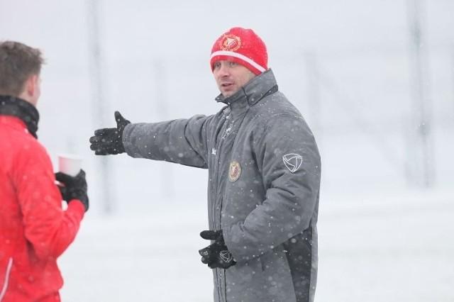 Trener Widzewa, Artur Skowronek.