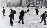 Archiwalny Stargard. Zima w latach 80. XX wieku. Jazda na sankach, bitwy na śnieżki. ZDJĘCIA