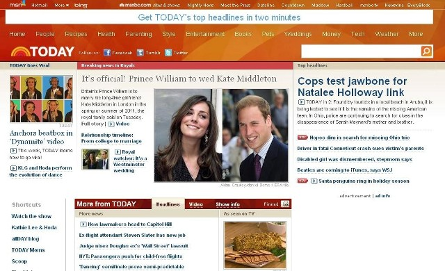 O ślubie księcia Williama informuje szeroko brytyjska prasa
