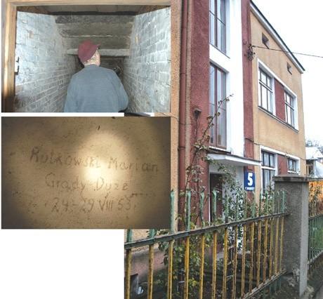 Mimo upływu lat na ścianach piwnic budynku przy ul. Nowogrodzkiej w Łomży wciąż widać napisy wyryte przez więźniów bezpieki