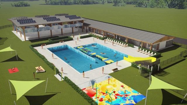 Tak miał wyglądać basen, który miał powstać w parku miejskim (na terenie dawnego kempingu Dobek)