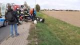 Wypadek motocyklisty pod Wrocławiem. W akcji helikopter LPR