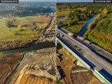 Budowa autostrady A1. Ile zrobiono w rok? Ile w 10 miesięcy? Czasami trudno uwierzyć, że to te same miejsca. Zobacz...