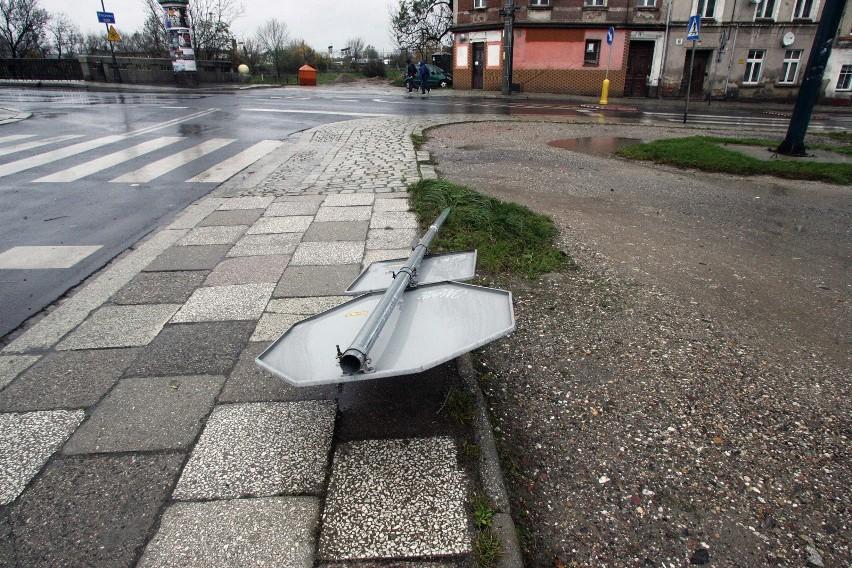 Skutki jednego z orkanów w Polsce.
