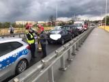 Wypadek na wiadukcie w Tarnobrzegu. Jedna osoba została ranna