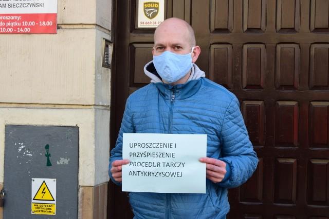 Protest pomorskich przedsiębiorców w Gdyni. 20.05.2020 r.