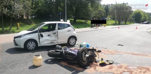 Wypadek w Jastrzębiu wyglądał bardzo poważnie.
