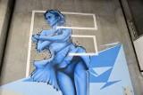 Mural powstaje na lodowisku w Bydgoszczy. Będzie gotowy na otwarcie sezonu [zdjęcia]