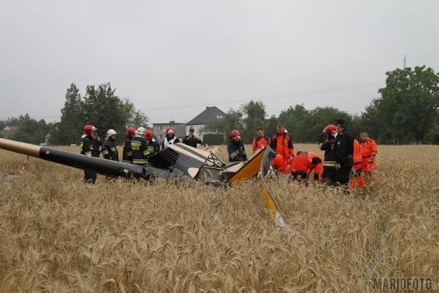 W katastrofie śmigłowca w Domecku pod Opolem zginęli przedsiębiorca z Boronowa 57-letni Marek P. oraz jego syn