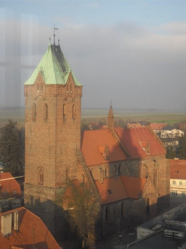 Stare Miasto w Byczynie można było podziwiać z punktu widokowego na ratuszowej wieży.