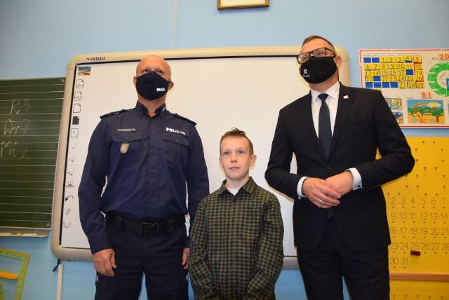Bohaterski Jakub chce zostać policjantem. Na razie odbiera nagrody