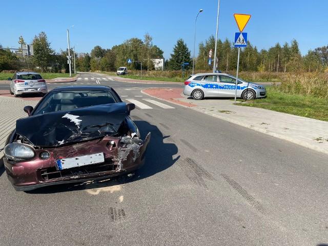 W Oświęcimiu 8.10.2021 zdarzyły się dwa samochody, w tym nauki jazdy