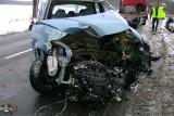 Wypadek pod Szprotawą. Cztery osoby ranne, w tym jedna ciężko.