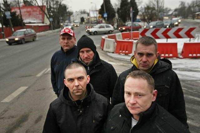 Artur Kazimierowicz, Mariusz Tokarz, Marcin Dziemięcki i Grzegorz Machander  liczą, że na swojczycki protest przyjdzie wiele osób