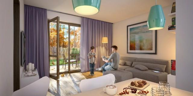 Wnętrze apartamentu w Rezydencji ParkRezydencje Park są projektowane jako obiekty gotowe do zamieszkania