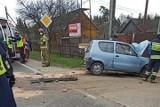Wypadek na krajowej trasie numer 42 w Grzybowie. Pijany kierowca ranny