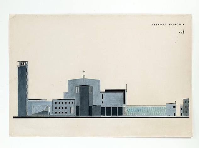 Bohdan Lachert, Józef Szanajca, Lech Niemojewski, Kościół św. Rocha w Białymstoku. Projekt konkursowy, 1926.