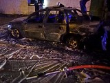 Pożar samochodu w Gościnku w powiecie białogardzkim [ZDJĘCIA]