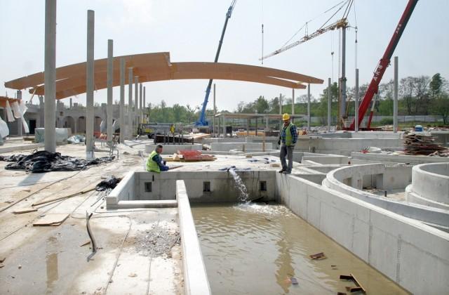 Wrocławski aquapark w budowie - 2006 rok